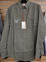 Olive Green Vintage Button Up- S