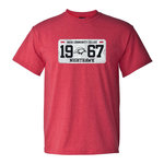 Red Heather License Plate T-shirt