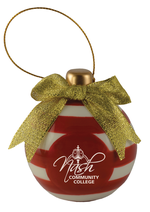 NCC Glass Ornament - Red