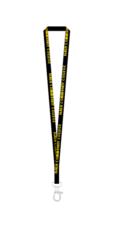 NCC Lanyard - Polyester Black w Yellow