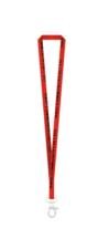 NCC Lanyard - Tubular Red w/ Blk