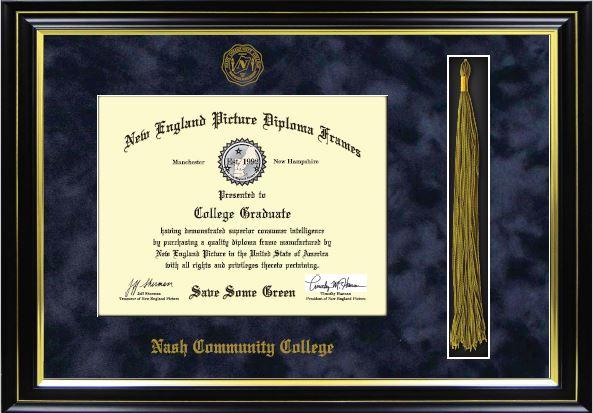 Ncc Diploma Frame W Tassel Black Nash Community College Bookstore